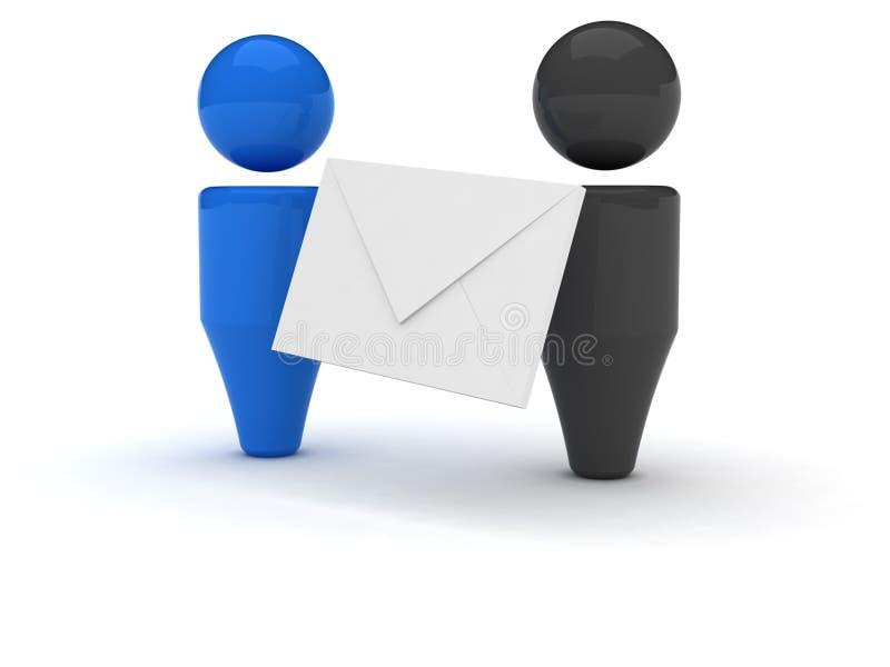 сеть иконы электронной почты 3d иллюстрация штока