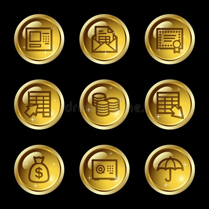 сеть икон банка иллюстрация штока