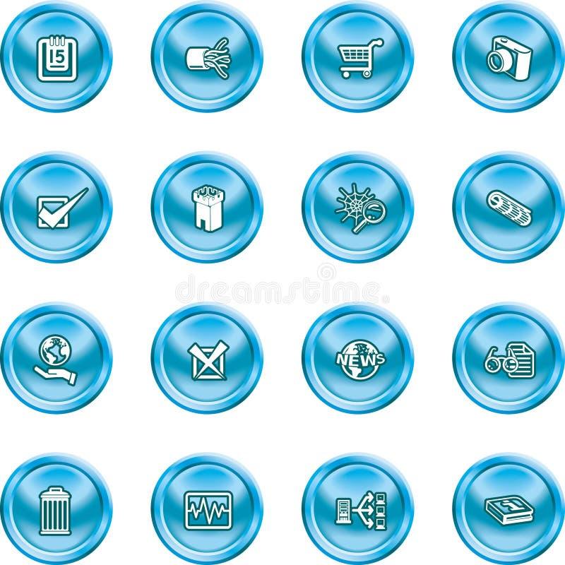 сеть икон компьютера иллюстрация штока