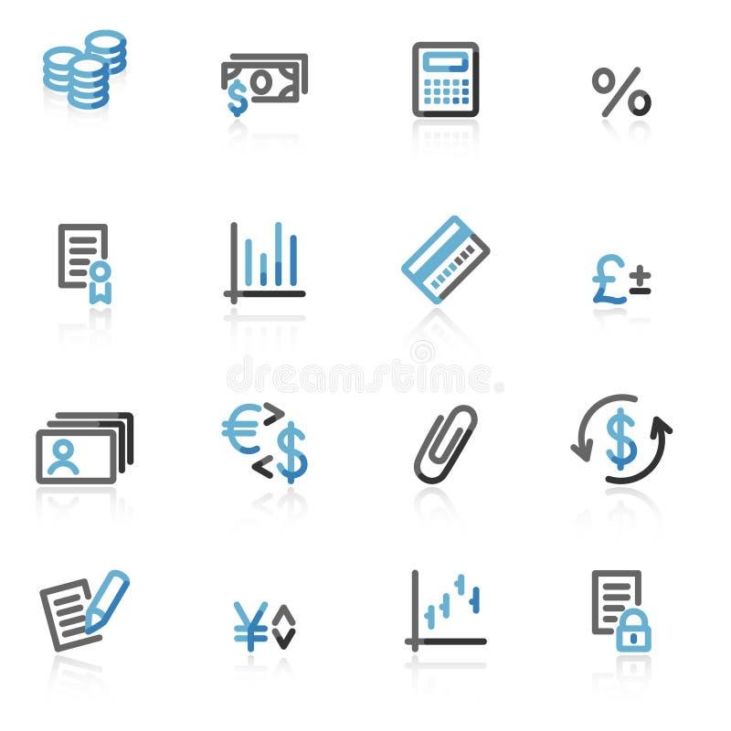 сеть икон финансов контура иллюстрация штока