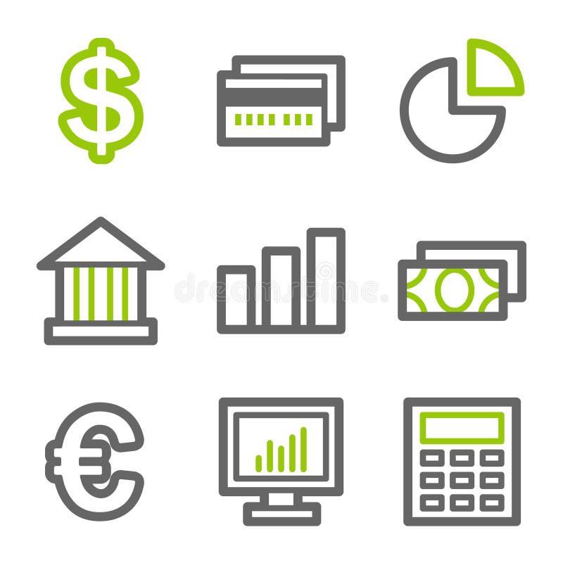 сеть икон финансов бесплатная иллюстрация