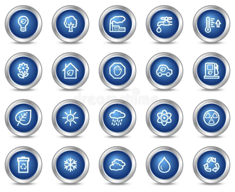 сеть икон экологичности иллюстрация вектора