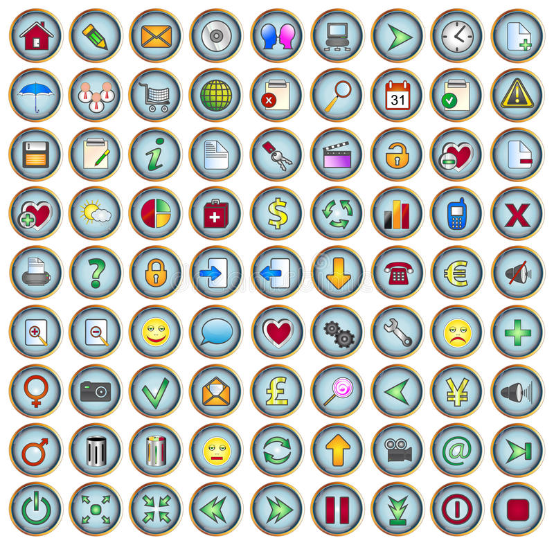 сеть икон иллюстрация вектора