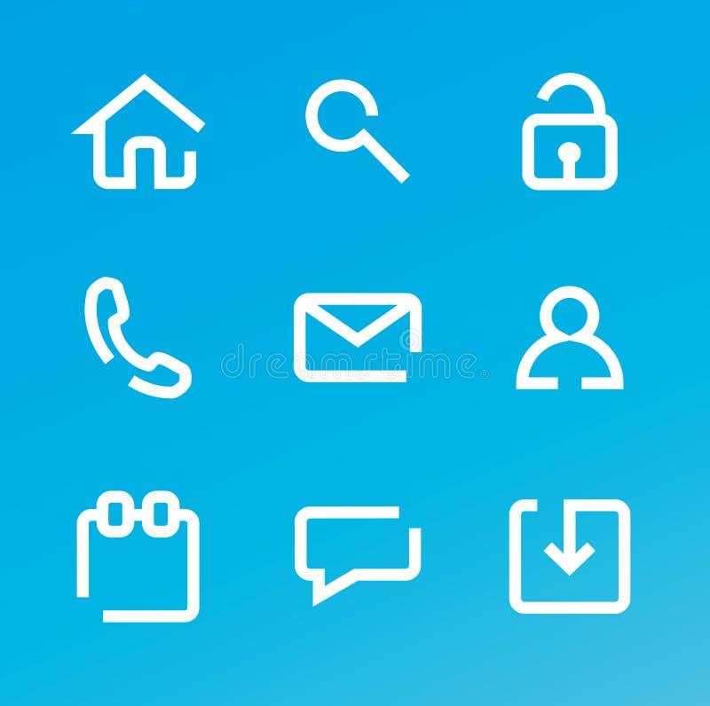 сеть икон иллюстрация штока