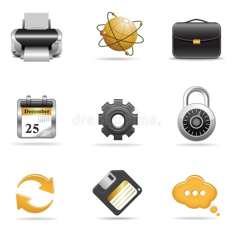 сеть икон set2 иллюстрация штока