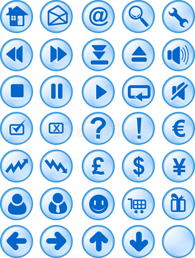 сеть интернета кнопки бесплатная иллюстрация