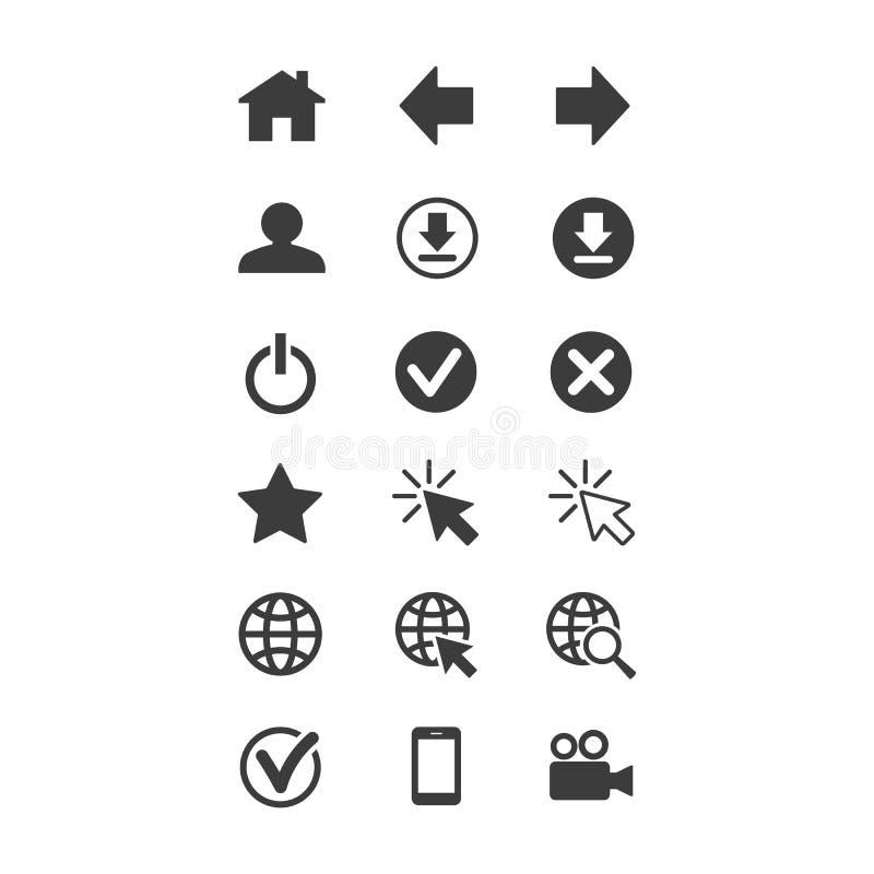 Сеть и мобильные значки установили на белую предпосылку стоковое фото rf