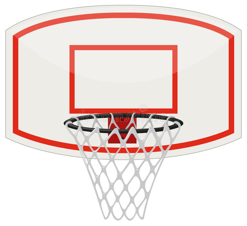 Сеть и обруч баскетбола иллюстрация штока