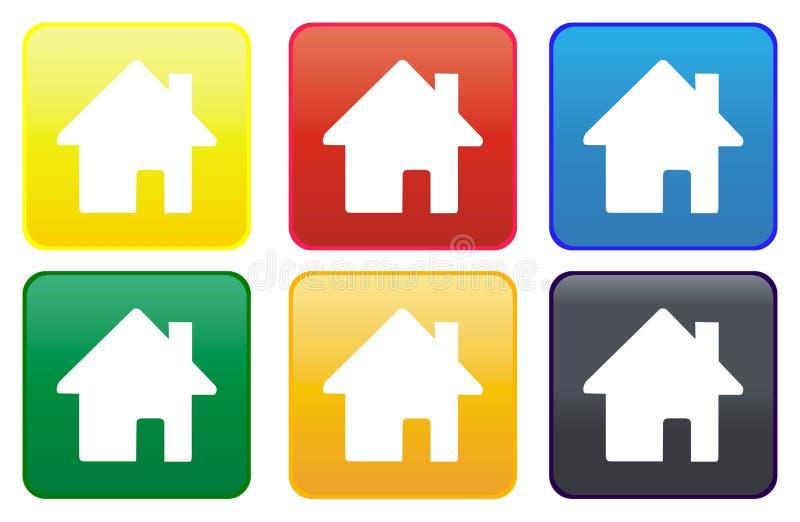 сеть кнопки домашняя бесплатная иллюстрация