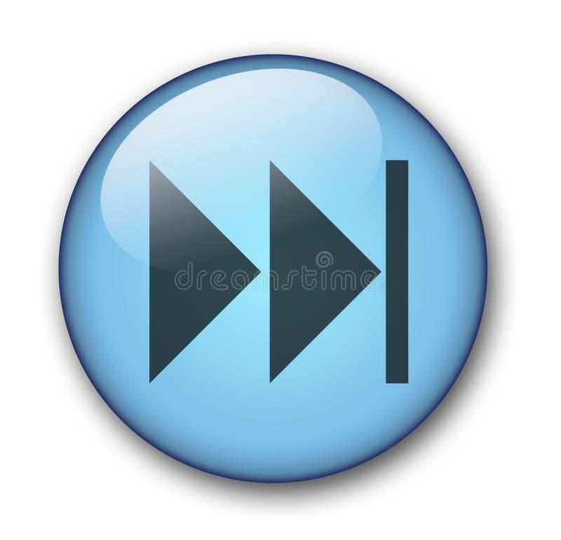 сеть кнопки Aqua Стоковые Фотографии RF