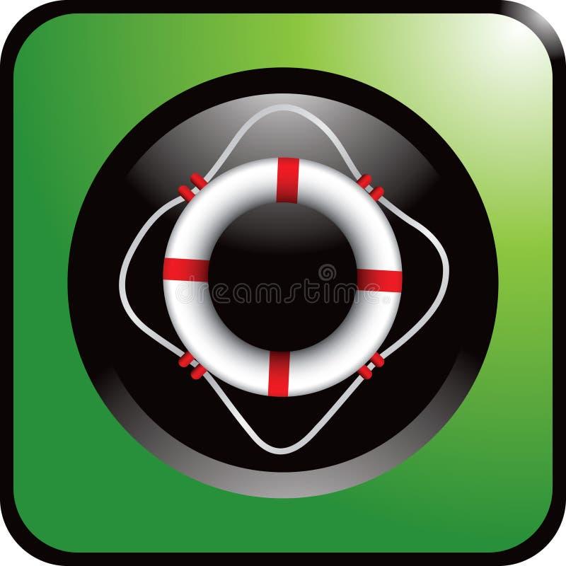 сеть кольца жизни кнопки зеленая иллюстрация вектора