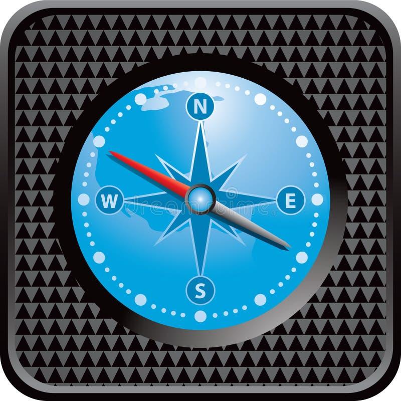 сеть компаса черной кнопки checkered иллюстрация штока