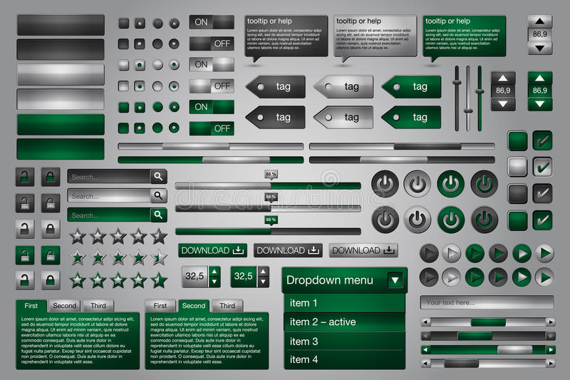 сеть комплекта элементов бесплатная иллюстрация