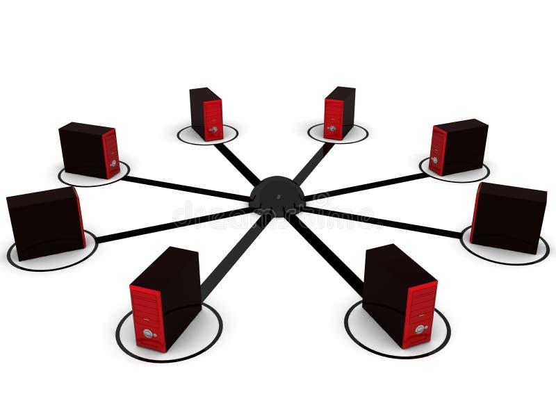 сеть компьютера иллюстрация вектора