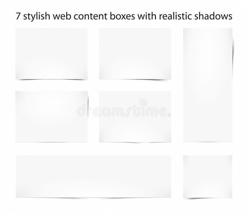 сеть коробок содержимая иллюстрация штока