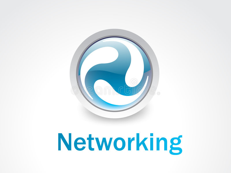 сеть логоса иллюстрация штока