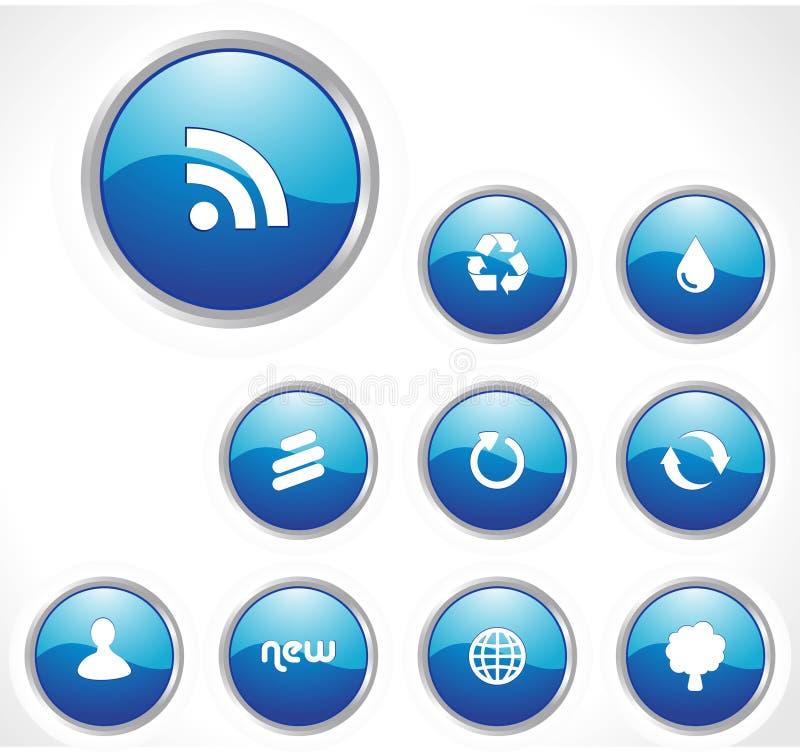 сеть лоснистой иконы применений установленная бесплатная иллюстрация