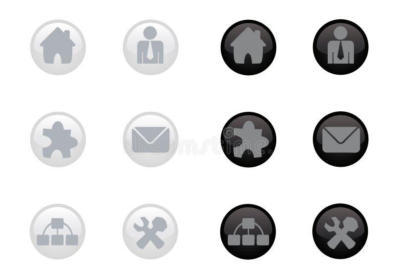 сеть лоснистой иконы установленная иллюстрация штока