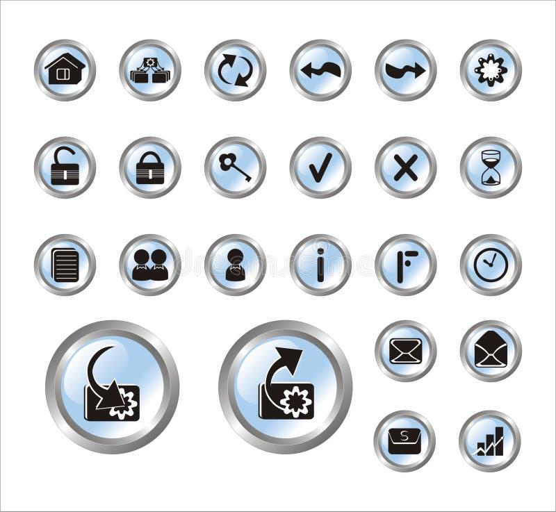сеть места икон иллюстрация штока