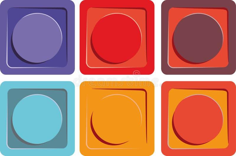 сеть места кнопок иллюстрация штока