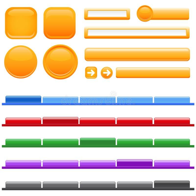 сеть места меню кнопки бесплатная иллюстрация
