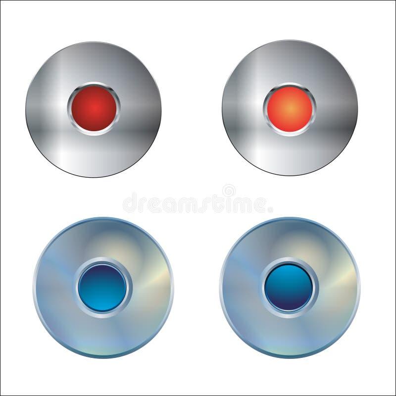 сеть металла кнопок бесплатная иллюстрация