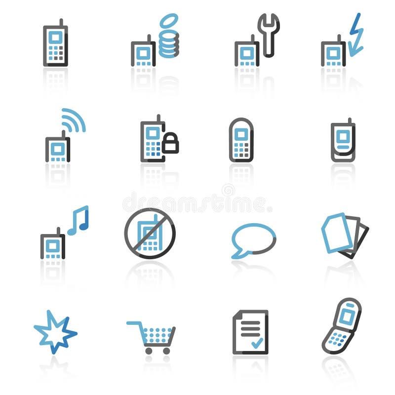 сеть мобильного телефона икон контура