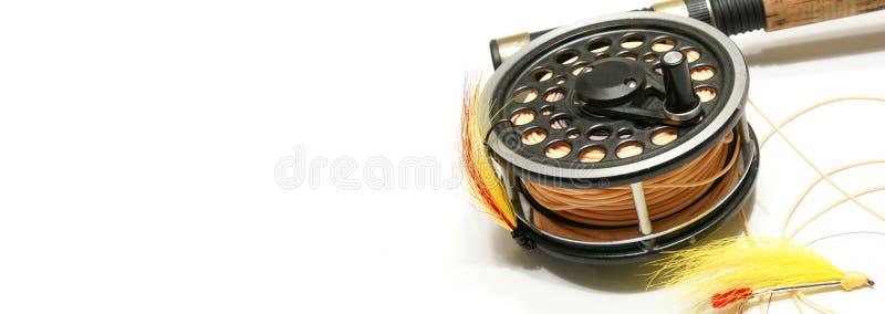 сеть мухы рыболовства знамени стоковое изображение rf