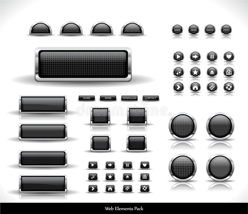 сеть пакета кнопок иллюстрация вектора