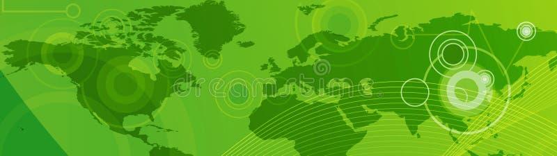 сеть перемещения коллектора знамени иллюстрация штока