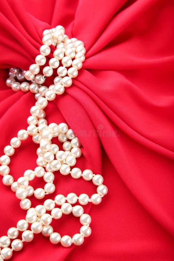 сеть перлы ожерелья утра росы стоковая фотография rf