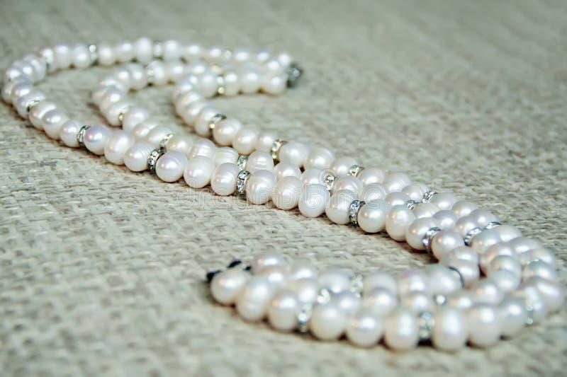сеть перлы ожерелья утра росы стоковые изображения