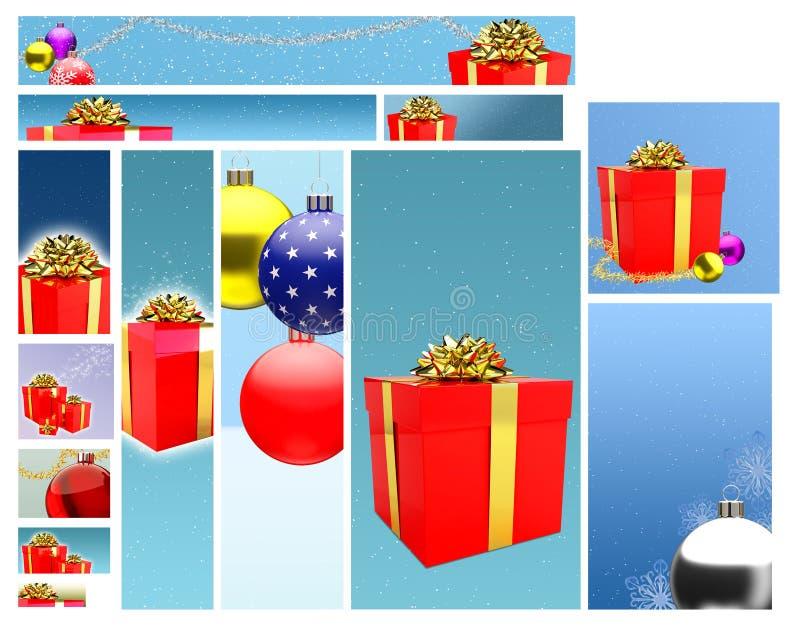 сеть подарков конструкции знамени бесплатная иллюстрация