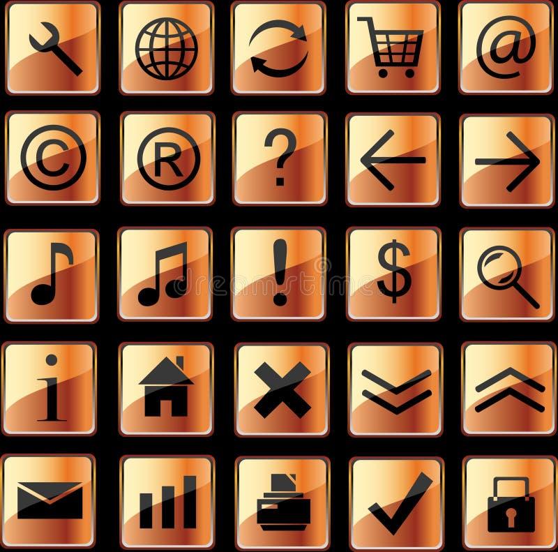 сеть померанца икон бесплатная иллюстрация