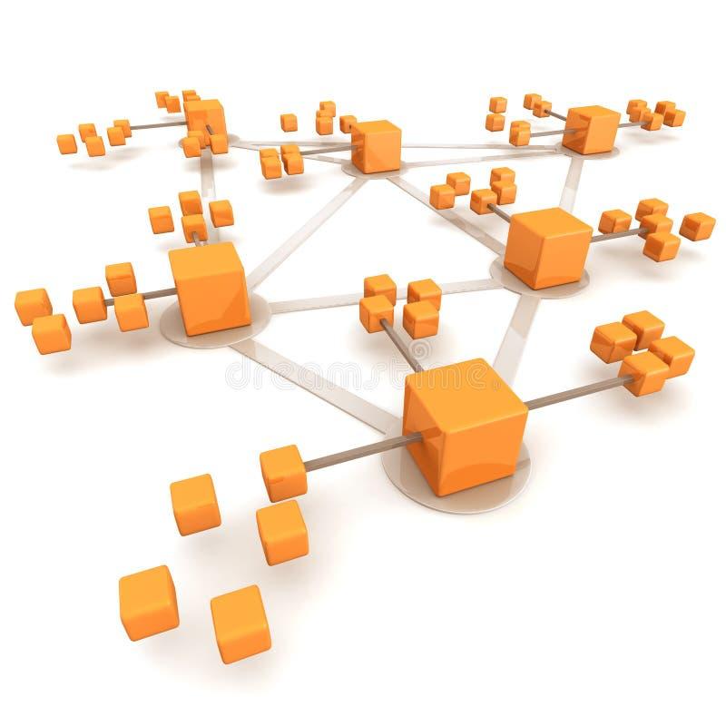сеть принципиальной схемы дела иллюстрация вектора