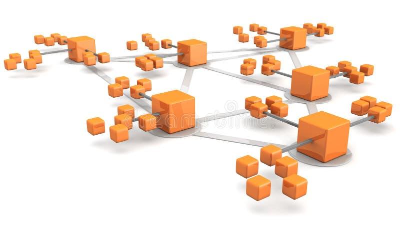 сеть принципиальной схемы дела бесплатная иллюстрация