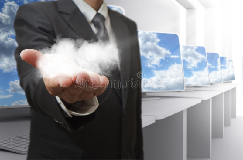 сеть принципиальной схемы облака стоковое фото