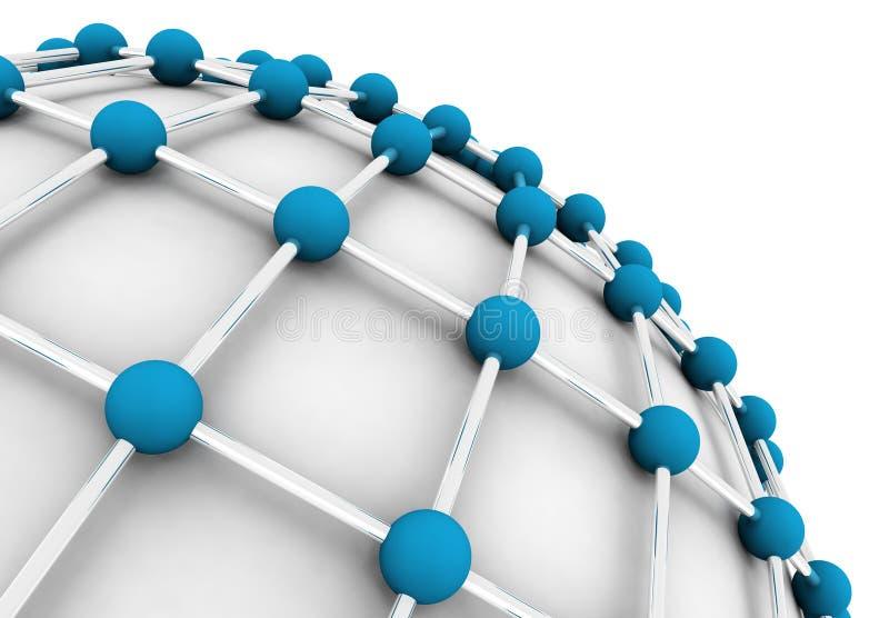 сеть принципиальной схемы иллюстрация вектора