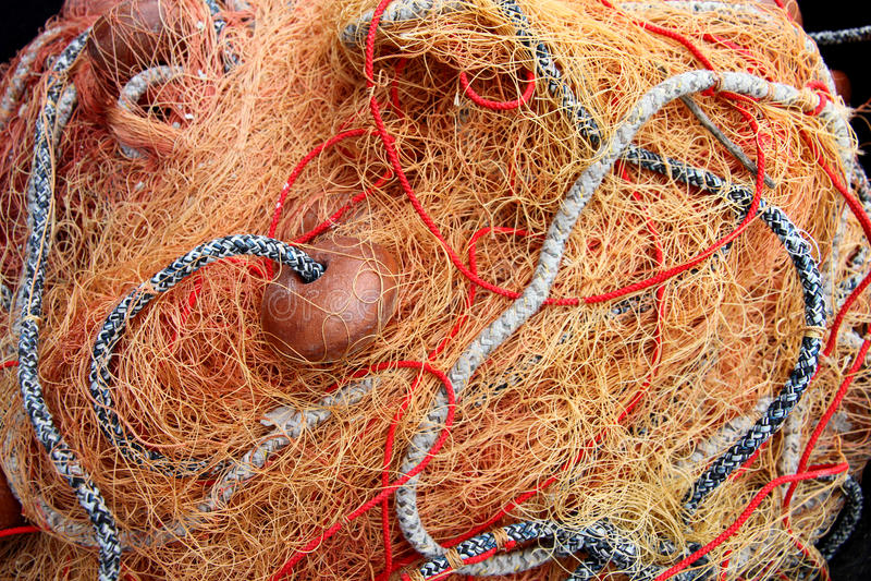 сеть промышленного рыболовства стоковые фото