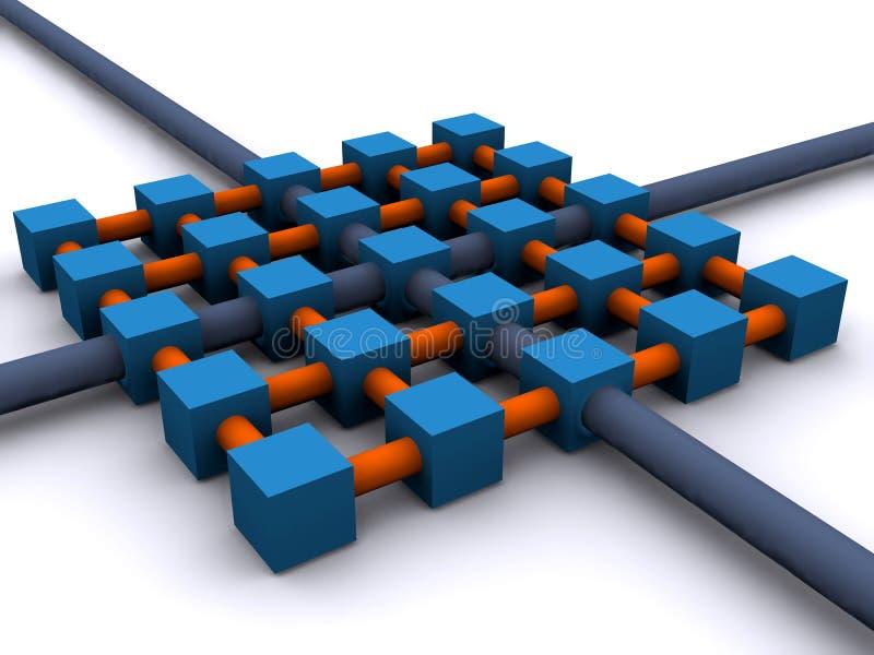 сеть решетки иллюстрация штока