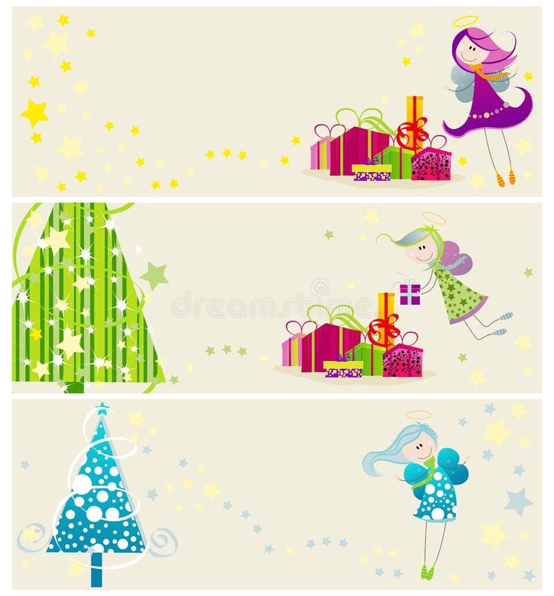 сеть рождества знамен милая бесплатная иллюстрация
