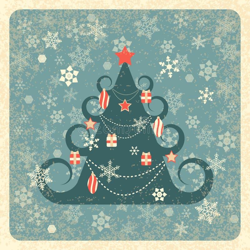 сеть сбора винограда шаблона страницы приветствию карточки предпосылки всеобщая рождество украсило вал вектор снежинок иллюстраци иллюстрация штока