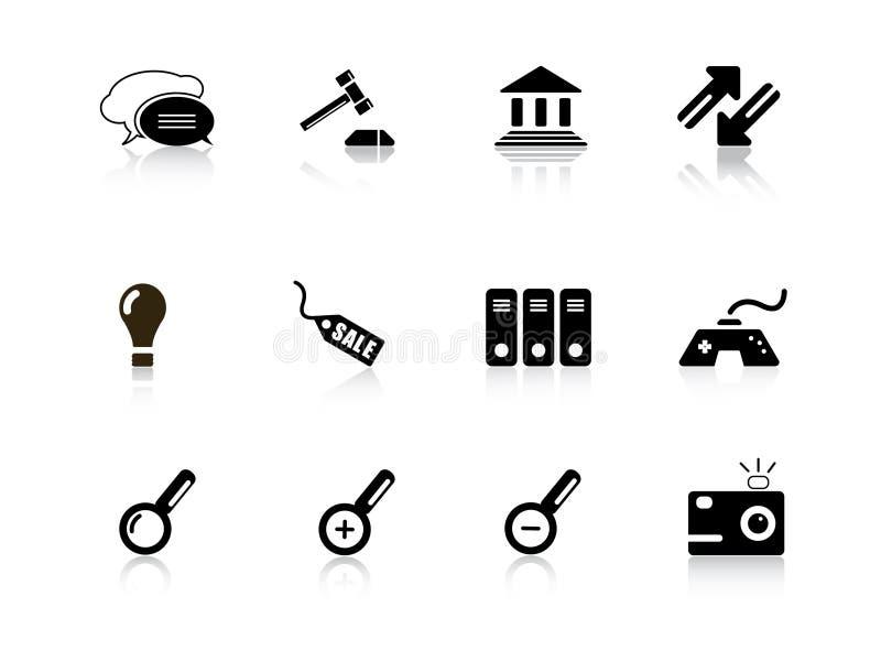 сеть серии иконы иллюстрация штока