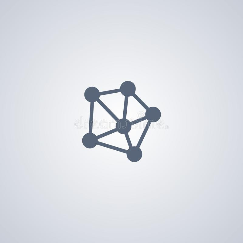 Сеть, соединение, vector самый лучший плоский значок иллюстрация штока