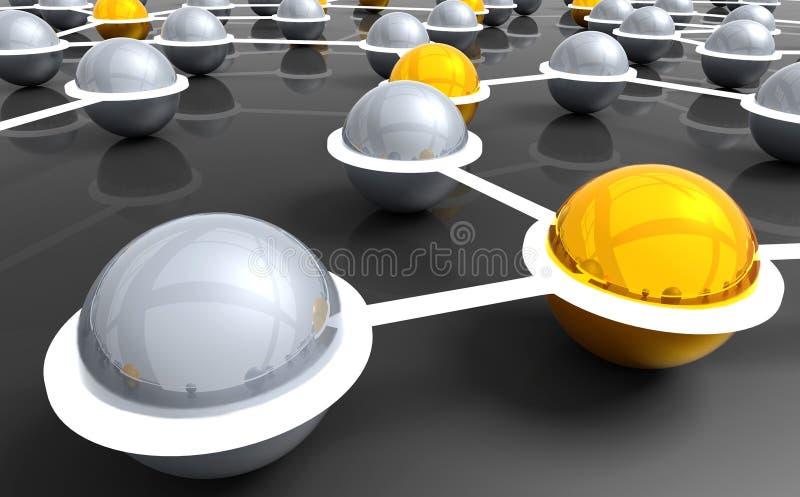 сеть соединений иллюстрация вектора