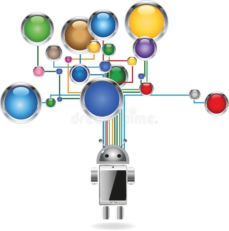 Сеть средств массовой информации иллюстрация вектора