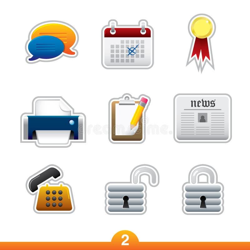 сеть универсалии стикера иконы установленная иллюстрация штока