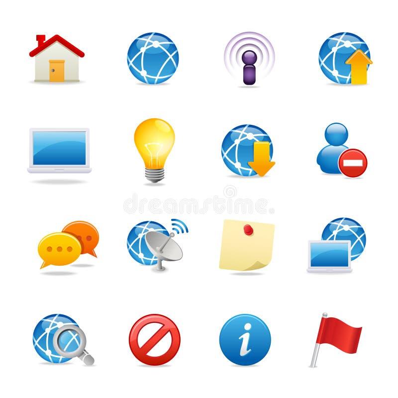 сеть универсалии 4 икон бесплатная иллюстрация