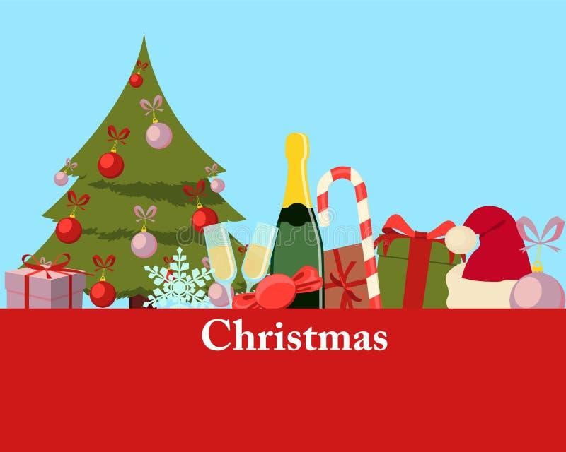 сеть универсалии шаблона страницы приветствию рождества карточки предпосылки бесплатная иллюстрация