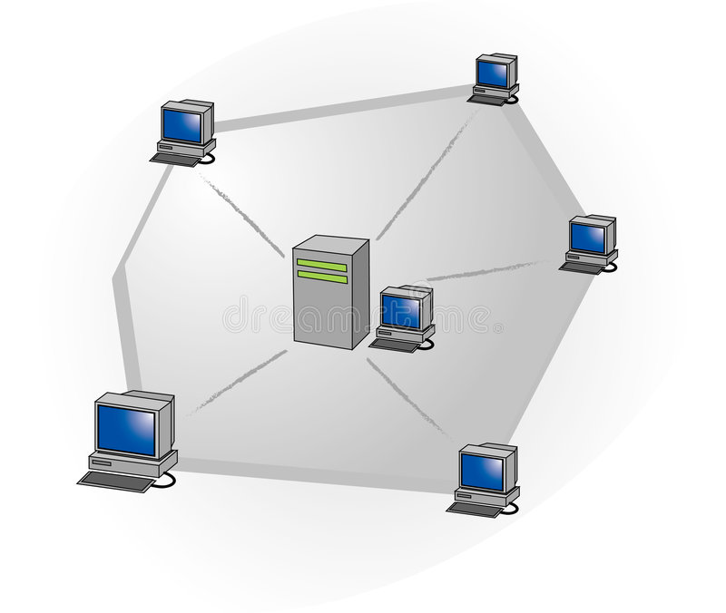 сеть управления иллюстрация вектора